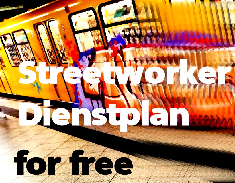 streetworker dienstplan