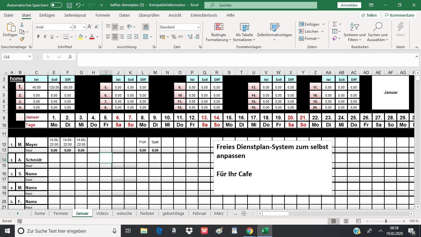 dienstplan-cafe-schichtplaner