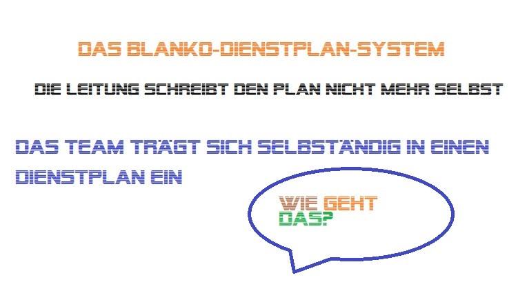 Blanko-Dienstplan-System